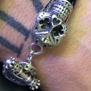 King baby day of dead skull bracelet
